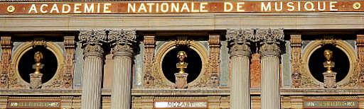 Mozart Beethoven Spontini Palais Garnier facade Paris France