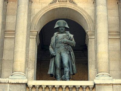 Napoleon statue Cour d'Honneur Les Invalides Paris France