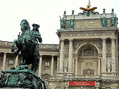 Neue Burg Eugen Prince of Savoy statue Vienna Austria