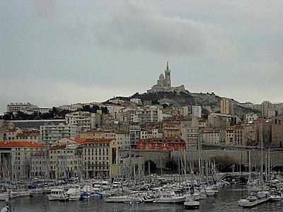 Notre Dame de la Garde from Vieux-Port Marseille France