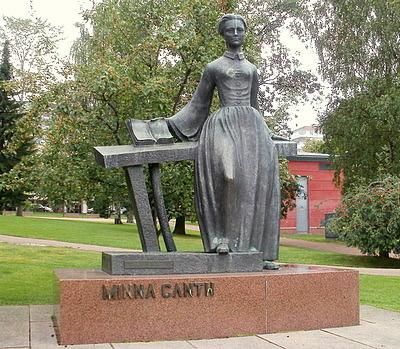 Nuori Minna Canth patsas Jyväskylä