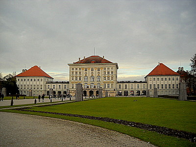 Nymphenburg palace garden side Munich Germany