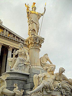 Pallas Athene statue Vienna Austria