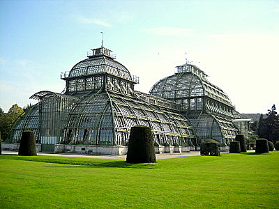 Palm House Schönbrunn palace Vienna Austria