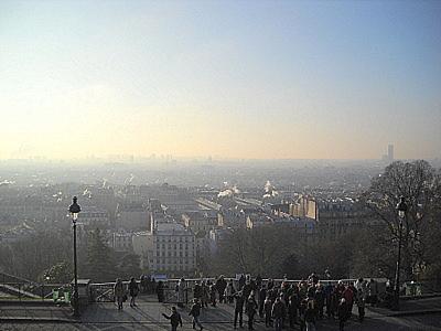 Panorama from Sacre Coeur church Paris France