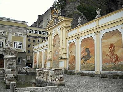 Pferdeschwemme Salzburg Austria