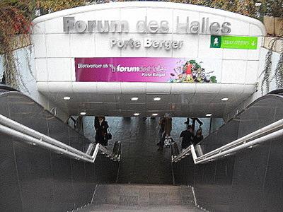 Porte Berger Forum des Halles Paris France