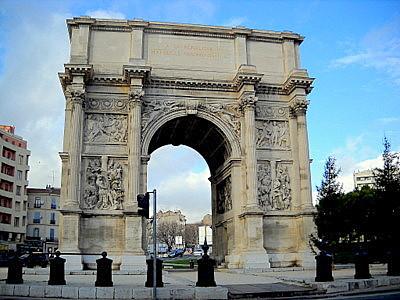 Porte d'Aix Marseille southern facade
