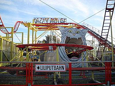 Prater amusement park Dizzy Mouse Vienna Austria