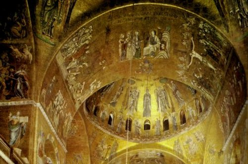 Saint Mark's church golden mosaics Venice