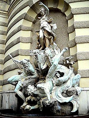 Neptune fountain Hofburg palace Vienna Austria