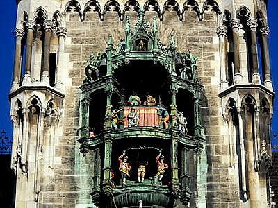 rathaus glockenspiel Munich Germany