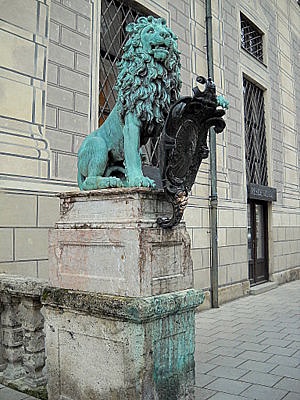 Residenz lion Munich Germany