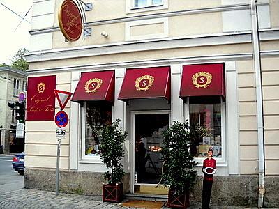 Sacher cake shop Hotel Sacher Salzburg Austria