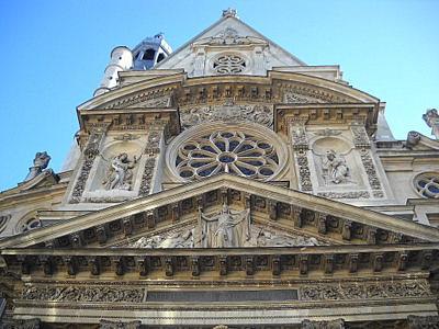 Saint Etienne du Mont church facade Paris France
