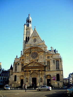 Saint Etienne du Mont church Paris France
