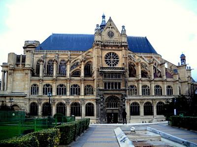Saint Eustache church in Paris France