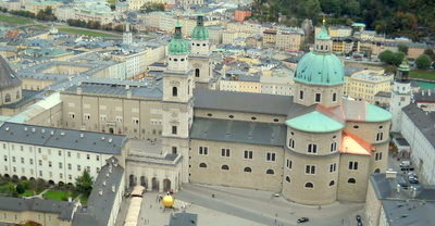 Salzburg Cathedral from Hohensalzburg fortress