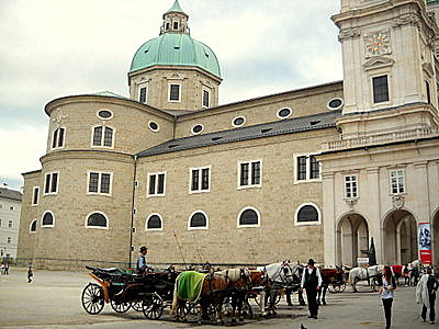 Salzburg horse carriage ride Austria