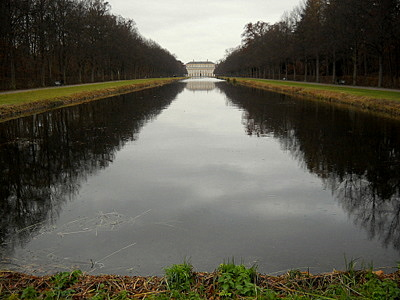 Schleissheim palace canal Munich Germany