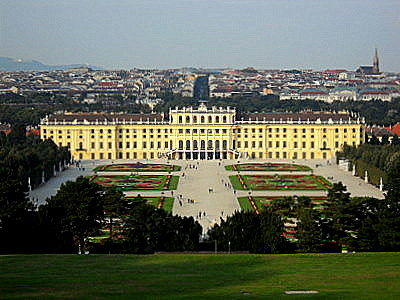 Schönbrunn palace and formal gardens Vienna Austria