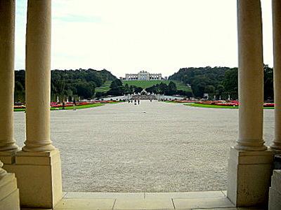 Schöbrunn palace gardens Glorietta Vienna Austria