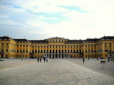 Schönbrunn palace entrance Vienna Austria