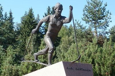 Siiri Rantanen patsas Salpausselkä Lahti
