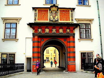 Swiss court gate Hofburg Vienna Austria