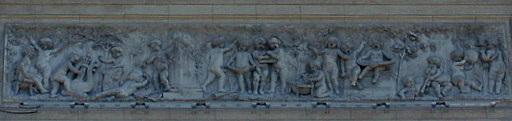 Teatro Colon bas-relief Buenos Aires