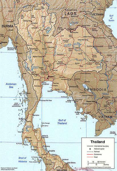 Thaimaa kartta