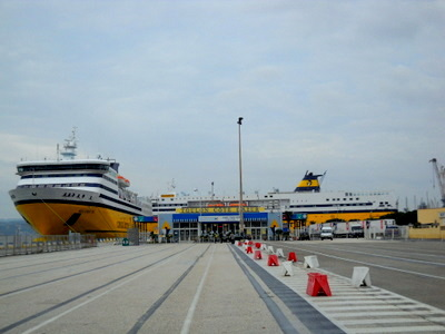 Toulonin satama Corsica Ferries Sardinia Ferries