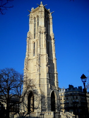 Tour Saint Jacques in Paris France