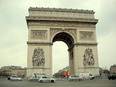 Triumphal arch of Paris France