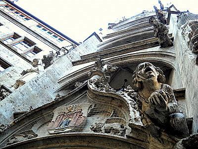 Neue rathaus inner courtyard Munich Germany