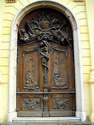 New Schleissheim palace door Munich Germany