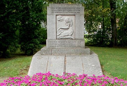 Vapaussodassa kuolleiden saksalaisten sotilaiden muistomerkki Hämeenlinna