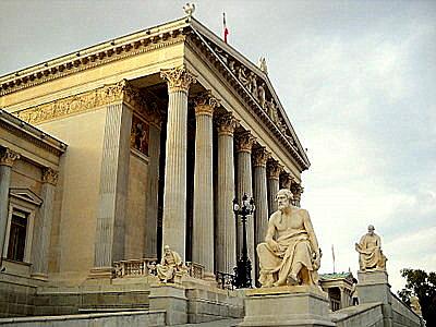Vienna Parliament Building statues