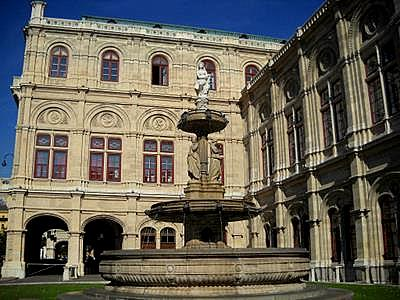 Vienna state opera fountain
