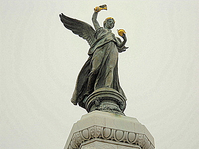Goddess of Victory Nike statue Nice France