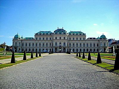 Upper Belvedere palace Vienna Austria