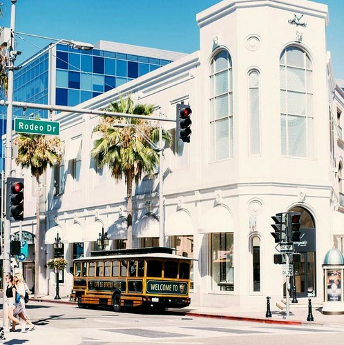 Rodeo Drive Beverly Hills Los Angeles Yhdysvallat.