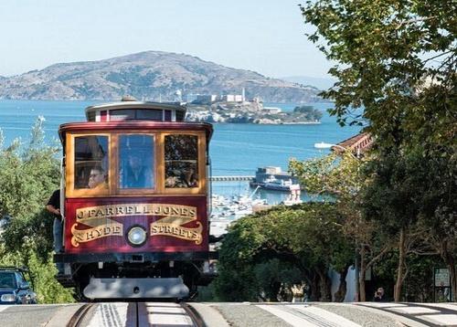 San Francisco köysirata raitiovaunu Yhdysvallat.