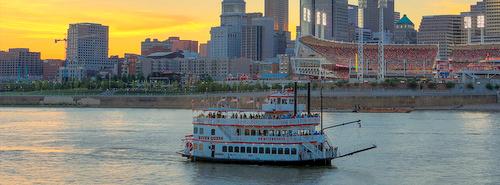 BB Riverboats jokiristeily Cincinnati Yhdysvallat.