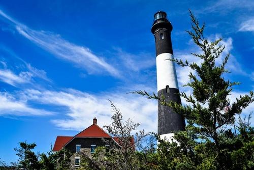 Fire Island National Seashore valomajakka Long Island Yhdysvallat.