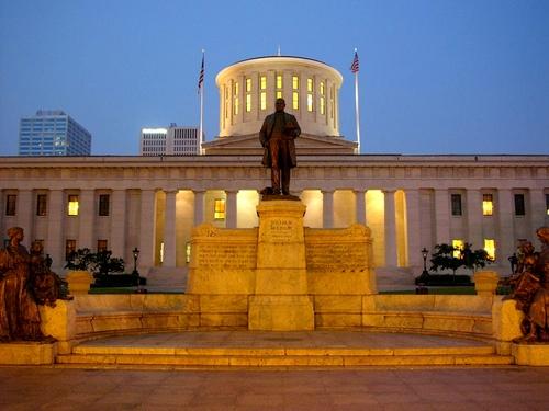 Ohion osavaltiotalo Columbus Yhdysvallat.
