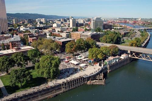 Portlandin lauantaimarkkinat Yhdysvallat.