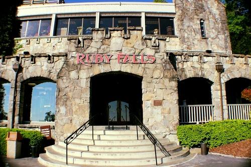 Ruby Falls maanalainen vesiputous Chattanooga Tennessee Yhdysvallat.