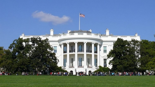 Valkoinen talo Washington DC Yhdysvallat.