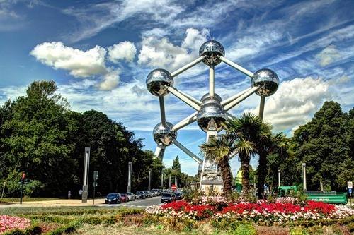 Atomium Brysseli Belgia.